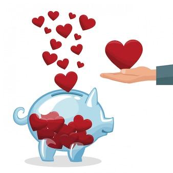 Liefdadigheid delen en liefhebben