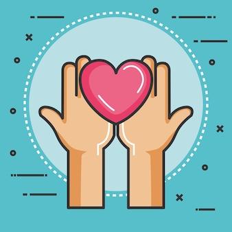 Liefdadigheid en schenking geven en delen jouw liefde