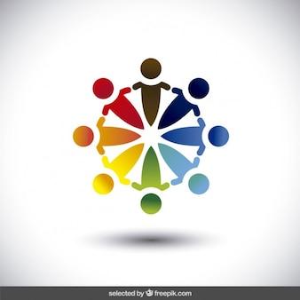 Liefdadigheid kleurrijke logo