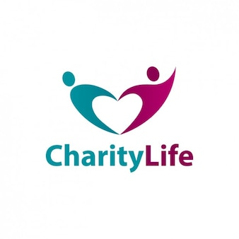 Liefdadigheid leven abstracte logo