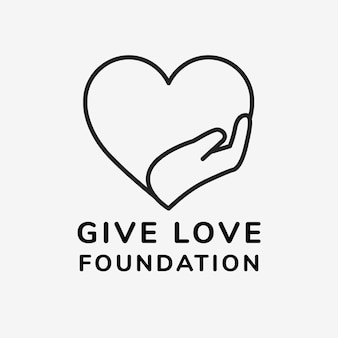 Liefdadigheid logo sjabloon, no-profit branding ontwerp vector