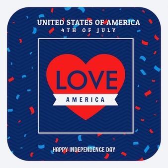 Liefde amerika viering achtergrond