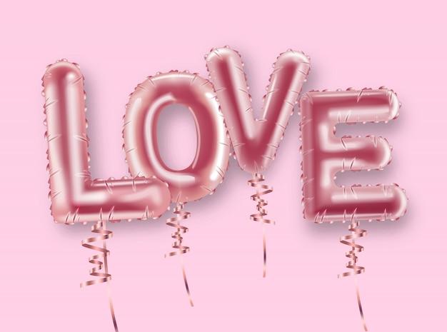 Liefde ballon folie tekst