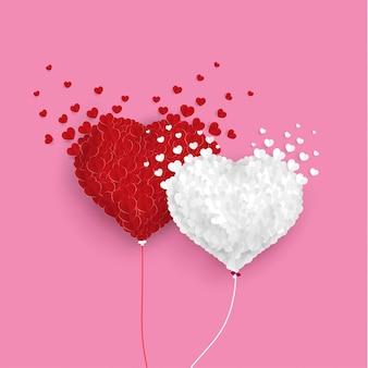 Liefde ballonnen vliegen