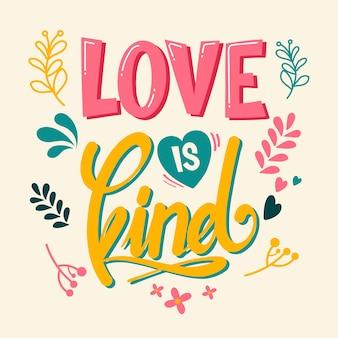 Liefde belettering concept