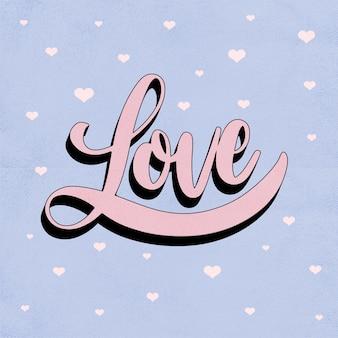 Liefde belettering in vintage stijl