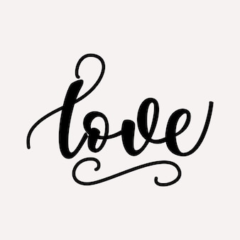 Liefde belettering ontwerp