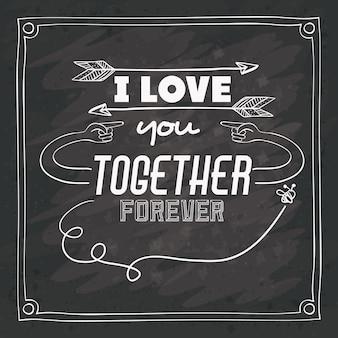 Liefde bericht ontwerp