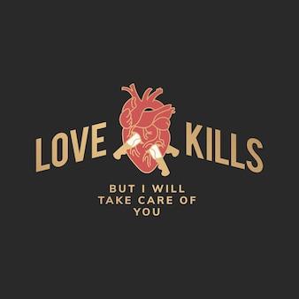 Liefde doodt illustratie