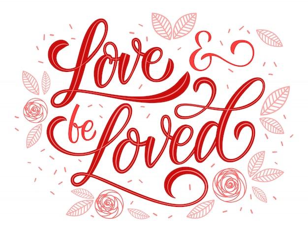 Liefde en bemind romantisch citaat