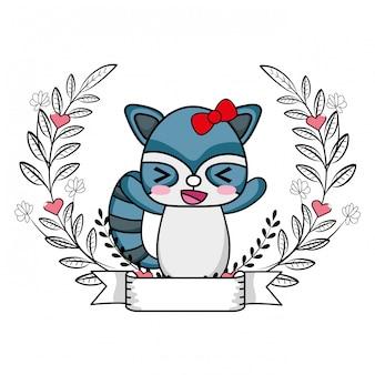 Liefde en dieren cartoon