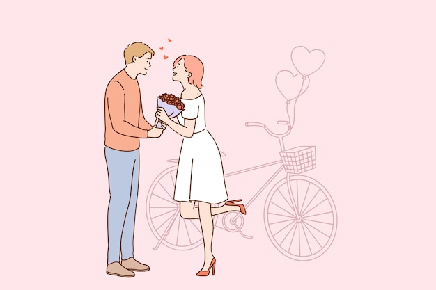 Liefde en romantisch datingconcept