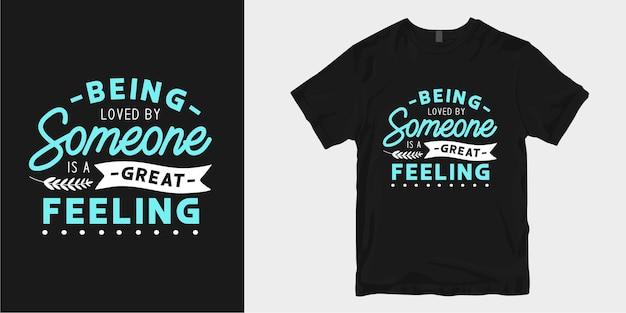 Liefde en romantische typografie t-shirt design slogan citaten