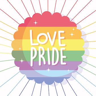 Liefde en trots tekst voor lgtbi vlag zegel stempel