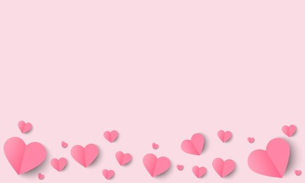 Liefde en valentijn dag achtergrond met origami hart.