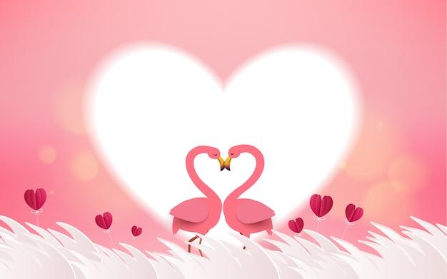 Liefde en valentijnsdag kaart