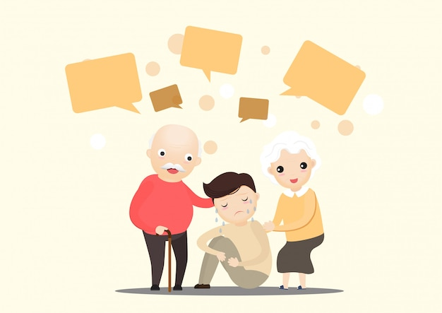 Liefde familie illustratie