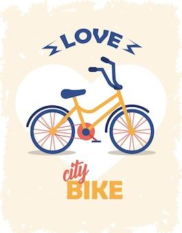 Liefde fiets poster