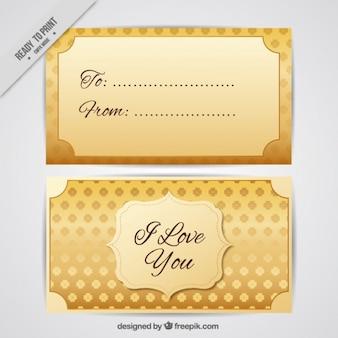 Liefde gouden kaart