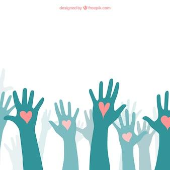 Liefde handen