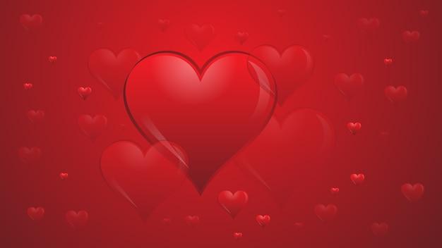 Liefde hart rode valentijn romantiek achtergrond