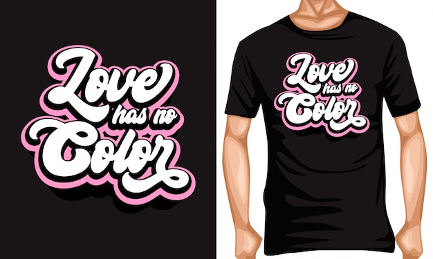 Liefde heeft geen typografische aanhalingstekens in kleur