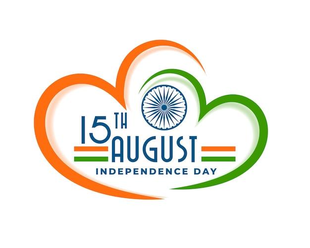 Liefde india onafhankelijkheidsdag hart achtergrond