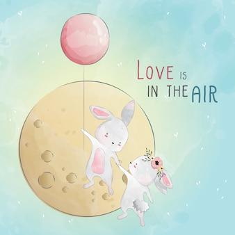 Liefde is in de lucht bunny liefde