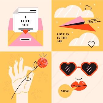 Liefde is in de lucht concept