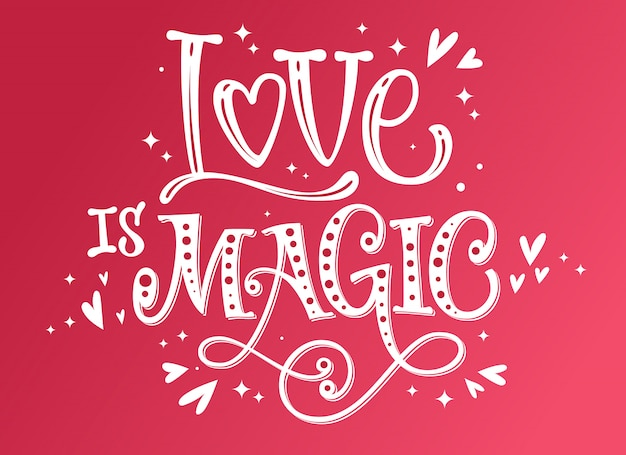 Liefde is magisch romantisch citaat