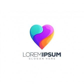 Liefde logo ontwerp vectorillustratie