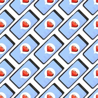 Liefde naadloos patroon
