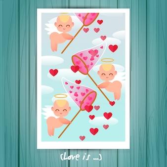 Liefde poster ontwerp