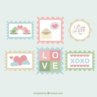 Liefde postzegels