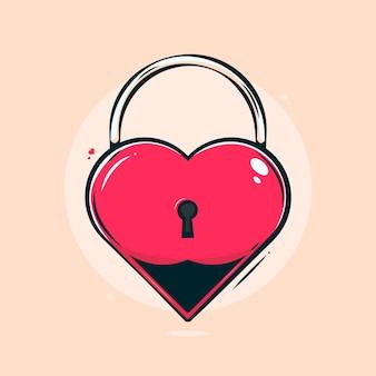 Liefde sloten illustratie