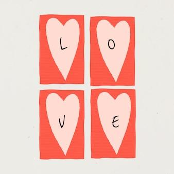 Liefde sociale media sjabloon