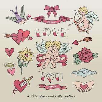 Liefde tatoeages