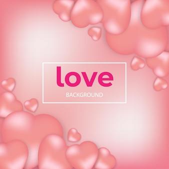 Liefde uitnodigingskaart valentijnsdag op abstracte achtergrond.