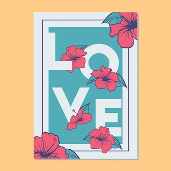 Liefde vector sjabloon