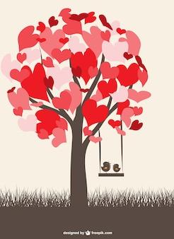 Liefde vogels grafisch vrij