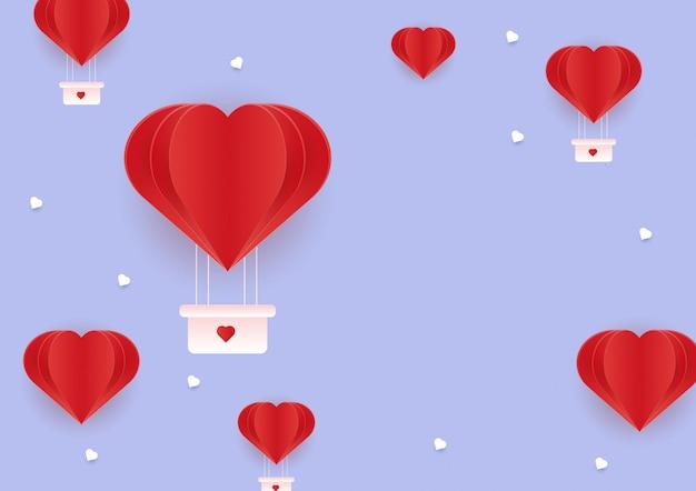 Liefdeachtergrond en de dag van de valentijnskaart