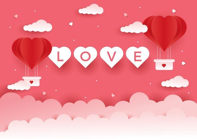 Liefdeachtergrond voor het concept van de valentijnskaart