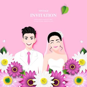 Liefdepaar op trouwdag
