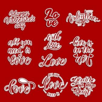 Liefdesbriefjes en stickers
