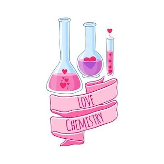 Liefdesdrank mooie flessen met harten en lint.