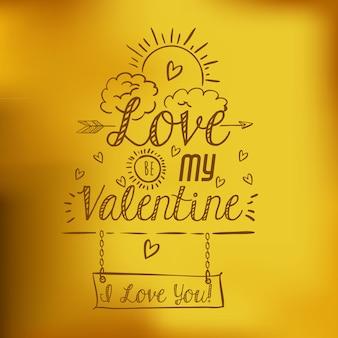 Liefdeskaart ontwerp