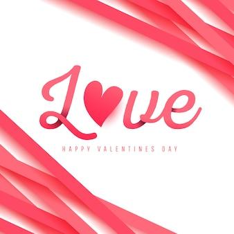 Liefdeskalligrafie met schaduwen. happy valentijnsdag ontwerp
