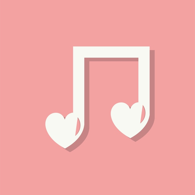 Liefdeslied valentijnsdag pictogram