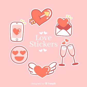 Liefdessticker collectie