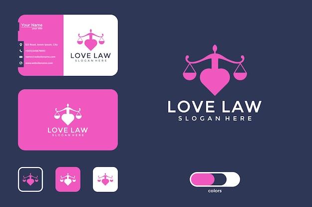 Liefdeswet logo ontwerp en visitekaartje